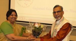 Dr kamalesh Lulla with Shaila ben Munshaw