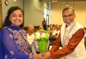 Dr kamalesh lulla with GSH President Yogina Patel